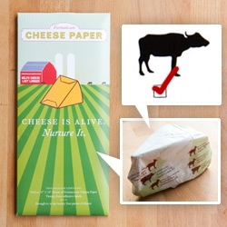 Cheese is Alive. Nurture it! ~ Formaticum's Cheese Paper aims to keep it that way a little longer with some fun packaging and great graphic design. Includes video of the cheese paper in action!