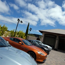 A peek into the Aston Martin Estate in Monterey ~ a chance to play with the V12 Zagato, One-77, Virage Coupé, Vantage S and more as well as a peek into the lifestyle ~ amazing driving simulators, chocolate, and more.