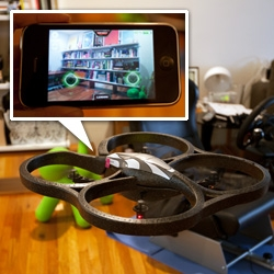 Unboxing of the Parrot AR.Drone! Quadricopter augmented reality flying video game with multiple cameras and controlled by your iPhone/iPad or Android!