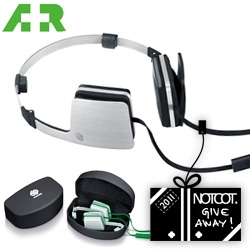 NOTCOT Holiday Giveaway #1: A+R is giving one lucky winner Urbanista's Copenhagen Headphone (with microphone for use with your mobile!)