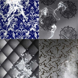 Whispers flocked wallpaper collection by Marcel Wanders for Graham & Brown
