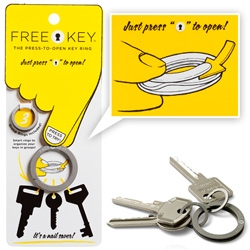 Free Key Press-To-Open keyrings designed by Eric von Schoultz