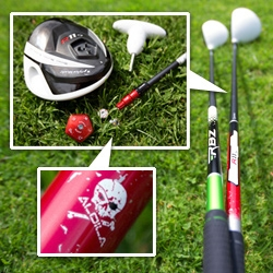 A look at the design details of TaylorMade's golf clubs - the R11S driver and new Rocketballz... armed with a torx key you can easily customize the loft, face angle, and flight path in an instant!