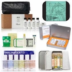 Hotelify your bathroom ~ just because you aren't at a hotel, doesn't mean you can't experiment with fun new toiletries! Here are some fun sets for guys and girls to try out ~ whether for you or to stock your guest bathroom!