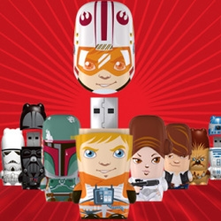 Mimobots launches phase 2 of the Star Wars series ~ adorably illustrated and luke even has a normal head under that helmet! And check out leia's buns...