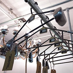 Rag and Bone Man turns vintage golf clubs into clothes hangers!