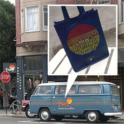 Marine Layer San Francisco ~ incredibly soft tees, hoodies and more. Stunning vintage VW van. Fun packaging and great graphics...