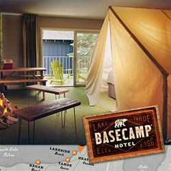 Basecamp Hotel in South Lake Tahoe ~ a new hipster motel conversion with a very Joie de Vivre/Ace hotel feel... fun website design too.