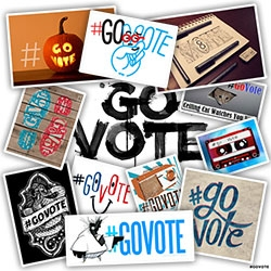 #GoVOTE !!! The #GoVote Campaign is a non-partisan artist driven project that runs through election day. Hundreds of artists are tweeting and adding original works to tumblr and pinterest with the hashtag #GoVote.