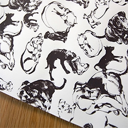 Natural illustrator, Natalya Zahn, has turned NOTpuppy, Bucky, and his instagram photos into wrapping paper! Also take a peek at delicious pumpkin pup-treats you can make at home!