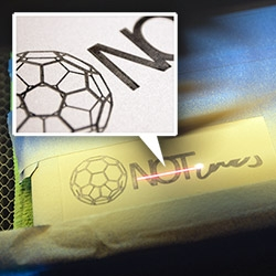 Experimenting with Laser Metal Marking = spray + laser + wipe! NOTlabs Laser Challenge #13!