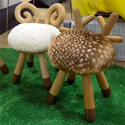 Kamina & C Bambi and Sheep Stools are ridiculously adorable (and you can't not smile looking at it) in person! Perfect for little kids...