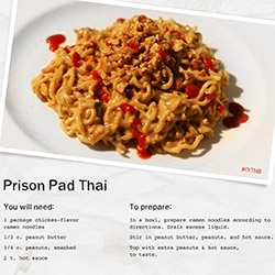 Netflix's Orange Is The New Black show is pretty fun... and they've taken it to the next level with PRISON RECIPES! From pad thai to cheesecake to tamales and more... fun graphics, great concept.