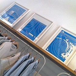 Mike Calvert Triptique of Surf Inspired Prints for UNIS LA