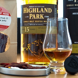 Highland Park teams up with The Meat Hook in Brooklyn to create a delicious Highland Park 15 Whisky infused Jerky!