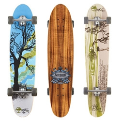 Arbor skateboards are quite the work of art ~ and tempting me to buy one even if i can't quite skate well!