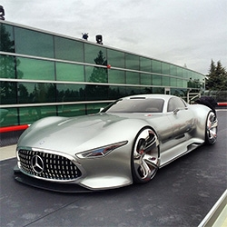 Up close with the Mercedes-AMG Vision Gran Turismo concept full size model that was created for GT6! Stunningly surreal to see a car designed for a video game life size...