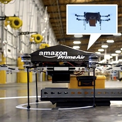 Amazon Prime Air ~ love that Amazon is sharing their R&D experiment with 30 min delivery via drones! Fun video... interesting provocation to get people imaging the possibilities...