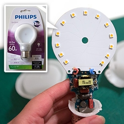 A look inside the new Philips LED SlimStyle A Shape lightbulbs - less weight, less space, less energy, and great lighting, but most interesting is the design (both inside and out!)