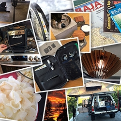 An Instagram look at what we've been up to (with more context) - peeks at This Is Ground leather organizer, Plumen bulb, IN.SEK concrete, apple ribbons, new stove, Baja research, NOTFZJ electronics and more!