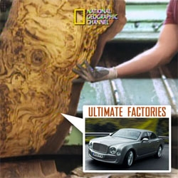 We love National Geographic's Ultimate Factories... and Bentley just sent over their episode! Amazing to see how the Mulsanne is made. Here's a sneak peek at how the wood comes from ancient root ball to dashboard!