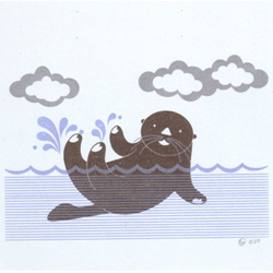 Wonting NYC Shop ~ has the cutest print gocco otter cards!