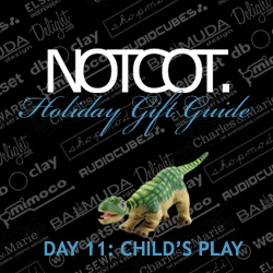 Gift Guide Day 11 is all about Child's Play ~ some simple toys from robotic dinos and wifi bunnies to finger crayons and pirate sailboats.