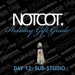 Gift Guide Day 12 ~ NOTCOT Contributor Anna of Sub-Studio shares some of her picks for this season's gifting... all framed in her illustrations... LOVE the robot!