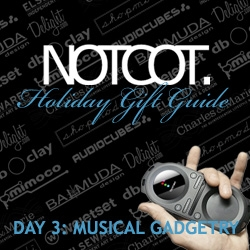 Gift Guide Day 3 ~ Musical Gadgetry to accompany the many mp3 players everyone already has...