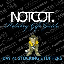 Gift Guide Day 4 is ready for your playful side ~ Stocking Stuffers and desktop toys that can go back to work with the giftees for further amusement.