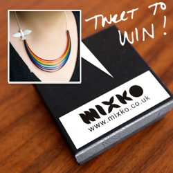 Giveaway!!! Mixko Here Comes The Sun necklace ~ check out what you have to tweet for a chance to win! Also check out the unboxing and close ups of this fun necklace! Rainbow pulled by a dove ~ last drop of rain on your back...