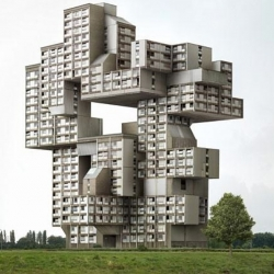Filip Dujardin's photographic works: architecture, between real and unreal.