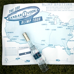 Hangar One Vodka takes the US by BLIMP! And a beautifully branded case of goodies to announce the adventure as they blimp their way from Miami to San Francisco... the long way!