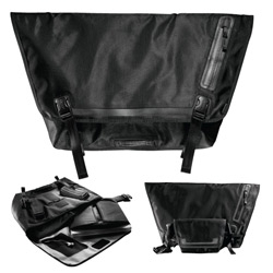 """Black messenger bags  that are sleekly designed and ridiculously packed with features!  Latest ones coming from Incase ~ with """"faux fur lining"""", removable laptop sleeves, molded skate bumpers and more."""