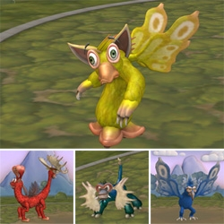 """Got a little Spore happy trying out various creatures with challenges like """"make it cute"""" - """"make it with as few vertebrae as possible"""" - etc. Here are some pics and vids..."""
