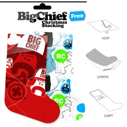 Italian design group Big Chief have free stockings for your printing pleasure!