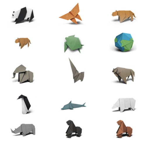 WWF Origami Stickers for iOS 10 Messages - some of the prettiest, cleanest little stickers. Fun to watch some animate as they transform from a flat sheet of paper.