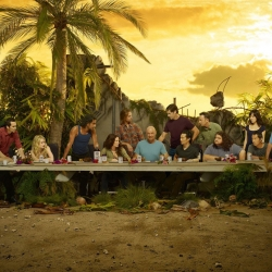 ABC has released these 2 photos of the cast of LOST posing as The Last Supper, in which there are clues to the final season. But did you know at least 9 other tv casts posed as the famous painting, too?