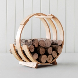 Log Loop Wood Basket by TOM RAFFIELD