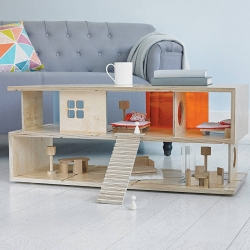 Dual Purpose 'S' Coffee Table And Doll's House