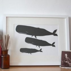 Love these papercut whales from mrYen's etsy shop.