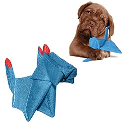 Kurgo Origummis - Origami inspired dog toys in dog and crane designs. With stuffable pockets and squeakers.