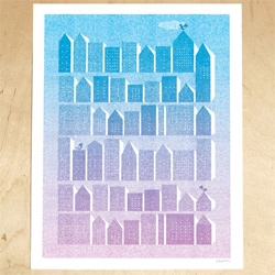 The Working Proof's My Home and the City print by Judy Kaufmann