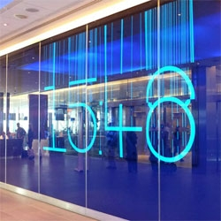 "Troika's All The Time In The World ~ 22m long electroluminescent wall ""extends the conventional notion of a world clock in Heathrow's Terminal 5 at the entrance to the lounges. See it in action..."