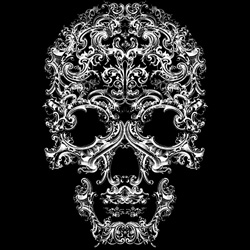 Skull-A-Day's Noah Scalin was commissioned by Kenneth Cole to create an ornamental skull for a T-shirt this holiday season.