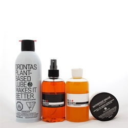 Sustainable bike care produicts from Orontas. Great packaging too!