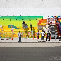 OS Gemeos Paints NYC! Houston St. Production