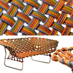 Osar Andersson has designed a sofa of climbing ropes. He studies art at Bekmans College.