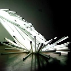 Oscar Santillan's  light sculpture. Currently attending the Sculpture MFA program at VCU (Richmond, VA) and Skowhegan artist-in-residence.