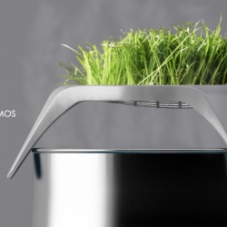 'Osmos' absorbs and retains all wasted steam and heat, recycling it into greenery of your choice; herbs, garnish, cress, grass.